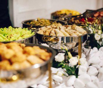 Utsökt mat med catering